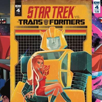 Take a closer look at Star Trek vs Transformers #4