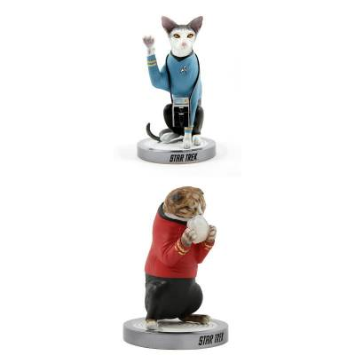 Star Trek cats statues from Chronicle Collectibles
